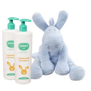 Galenco Baby Bodymilk 2x400 ml + Noukie's Little Cuddle Lola Blue Cocon For FREE 1 set