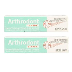Arthrodont Classic Dentifrice DUO 2x75 ml