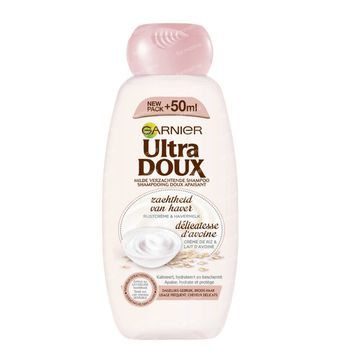 Garnier Ultra Doux Milde Verzachtende Shampoo Rijstcrème en Havermelk Broos Haar 300 ml