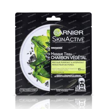 Garnier SkinActive Masque Tissu Charbon Pur 36 g