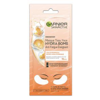 Garnier SkinActive Masque Tissu Yeux Hydra Bomb Extraits d'Orange & Acide Hyaluronique  6 g