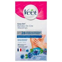 Veet Easy-Gel Waxstrips Oksels - Gevoelige Huid 30  strips