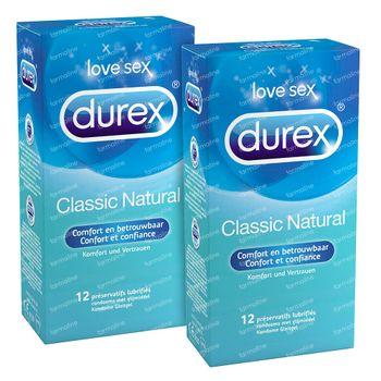 Durex Classic Natural Condooms  2x12 stuks