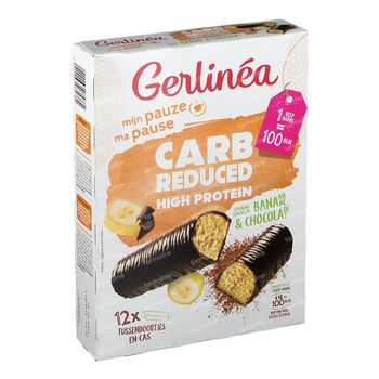 Gerlinéa Carb Reduced High Protein Barre Banana & Chocolat 372 g