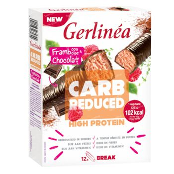 Gerlinéa Carb Reduced High Protein Barre Framboise & Chocolat 372 g