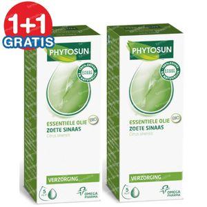 Phytosun Zoete Sinaasappel Essentiele Olie Bio 1+1 GRATIS 2x5 ml