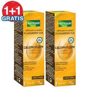 Phytosun Calophylle Plantaardige Olie Bio 1+1 GRATIS 2x50 ml