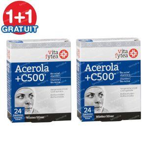 Vitafytea Acerola Vitamine C 500 1+1 GRATUIT 2x24 comprimés à sucer