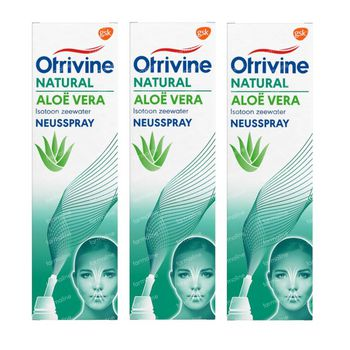 Otrivine Natural Aloe Vera Eau de Mer Spray Nasal TRIO 3x100 ml