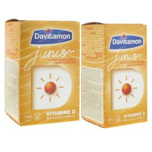 Davitamon Junior Multivrucht + Junior Multivrucht 60 Kauwtabletten GRATIS 120+60 kauwtabletten