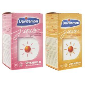 Davitamon Junior Framboise + Junior Multifruit GRATUIT 120+60 comprimés à croquer