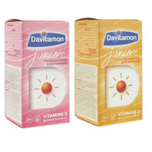 Davitamon Junior Framboos + Junior Multivrucht GRATIS 2x60 kauwtabletten