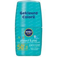 Nivea Sun Kids Protect & Play Sonnen-Roller Farbige Formel Grün SPF50+ 50 ml
