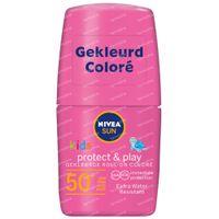 Nivea Sun Kids Protect & Play Gekleurde Roll-On Roze SPF50+ 50 ml