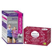 Mannavital MSM Platinum + 20 Sachets Ladrôme Muscles et Articulations Thé GRATUIT 180 + 20 pièces