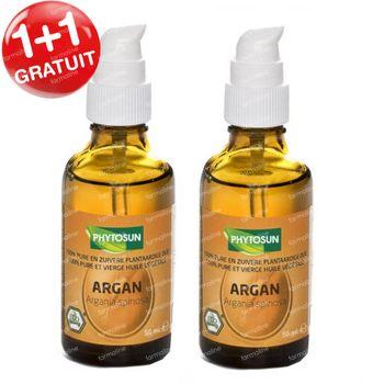 Phytosun Argan Huile Végétale Bio 1+1 GRATIS 2x50 ml