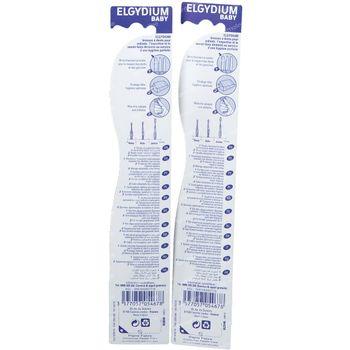 Elgydium Brosse à Dents Bébé Soft 1+1 GRATUIT 2 pièces