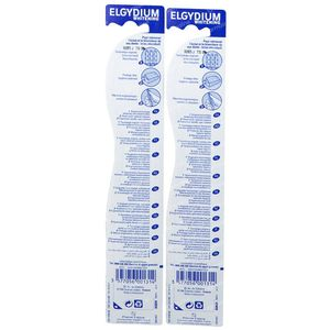Elgydium Brosse à Dents Blancheur Medium 1+1 GRATUIT 2 pièces