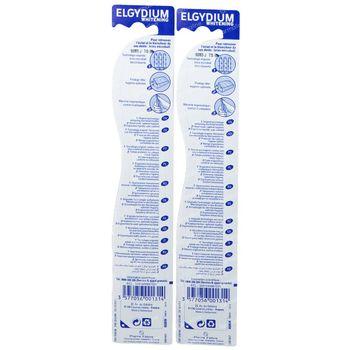 Elgydium Tandenborstel Whitening Medium 1+1 GRATIS 2 stuks