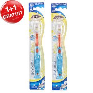Elgydium Brosse à Dents Kids Souple 1 + 1 GRATUIT 2 pièces