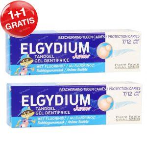 Elgydium Junior Tandgel Bubblegum 1+1 GRATIS 2x50 ml