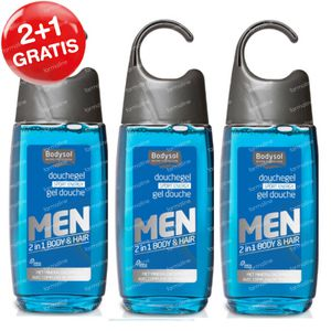 Bodysol Men 2-in-1 Douchegel Sport Energy 2+1 GRATIS 3x250 ml