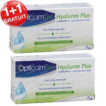 Opticalmax Hyaluron Plus Gouttes Oculaires 1+1 GRATUIT 40x0,5 ml