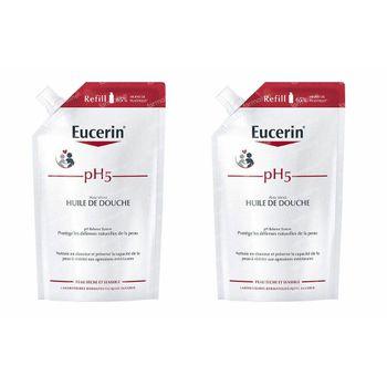 Eucerin pH5 Doucheolie Droge en Gevoelige Huid Navulling DUO 2x400 ml