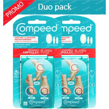 COMPEED Pansements Ampoules Mix DUO 2x5 pansements