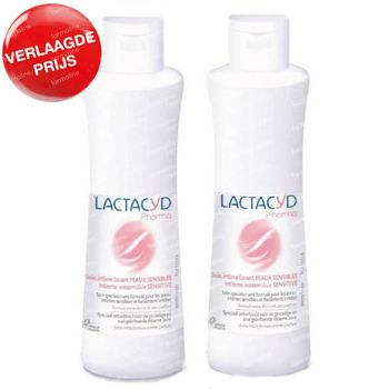 Lactacyd Pharma Intieme Wasemulsie Sensitive DUO Verlaagde Prijs 2x250 ml