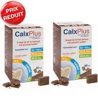 CalxPlus Chocolat sans Sucre DUO Prix Réduit 2x60  comprimés