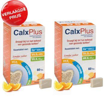 CalxPlus Sinaas zonder Suiker DUO Verlaagde Prijs 2x60 tabletten