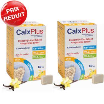 CalxPlus Vanille sans Sucre DUO Prix Réduit 2x60 comprimés