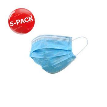 Masque de Protection 3 Couches 5-PACK 5x50 pièces