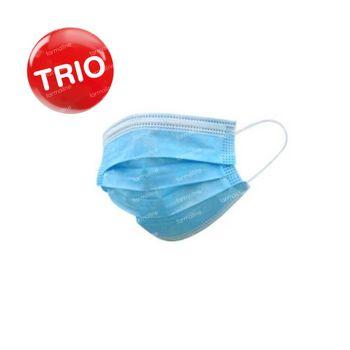 Mondmasker 3-Lagig TRIO 3x50 stuks