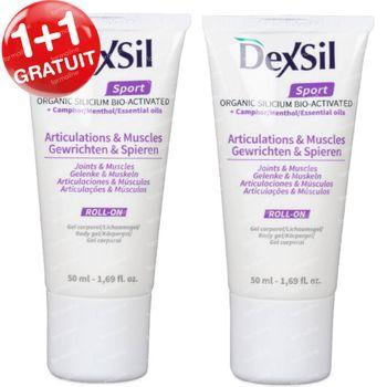 DexSil Sport Articulations & Muscles Silicium Gel 1+1 GRATUIT 2x50 ml rouleau