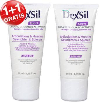 DexSil Sport Gewrichten & Spieren Silicium Gel 1+1 GRATIS 2x50 ml roller