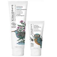 VIVAIODAYS Olive Oil All Purpose Rescue Balsam Gel + Saponaria No-Tears Wash & Shampoo 75+150 ml