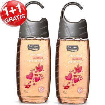 Bodysol Kids 2-in-1 Douchegel Sweet Love 1+1 GRATIS 2x250 ml