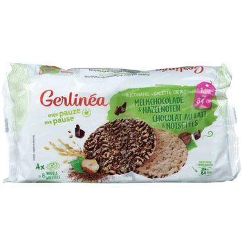 Gerlinéa Rijstwafel Melkchocolade en Hazelnoten 142 g
