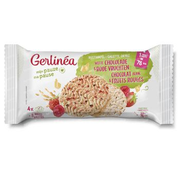 Gerlinéa Rijstwafel Witte Chocolade en Rode Vruchten 132 g