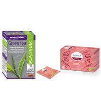 Mannavital Green Tea Platinum + Ladrôme Infusie Afslanking GRATIS 1  set
