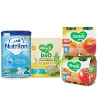 Nutricia Pack Lait de Suite, Céréales et Petits Pots Repas et Fruits pour Bébés 8 Mois 1  set