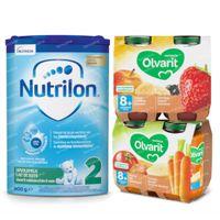 Nutricia Pack met Opvolgmelk en Fruit-en-Maaltijdpotjes voor Baby's 8 Maanden 1  set