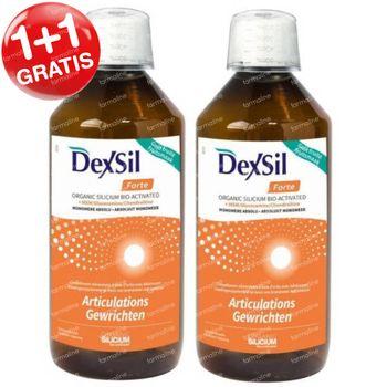 DexSil Forte Gewrichten Silicium + MSM/Glucosamine/Chondroïtine 1+1 GRATIS 2x500 ml