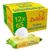 Zwitsal Bébé Lingettes Humides Lotion 12-PACK 12x65 pièces