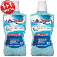 Aquafresh Mondwater Complete Care Fresh Mint 1+1 GRATIS 2x500 ml