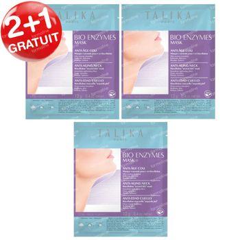 Talika Bio Enzymes Masque Cou 2+1 GRATUIT 3 pièces