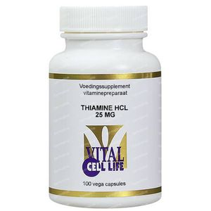 Vital Cell Life Thiamine HCL 25 mg 100 capsules