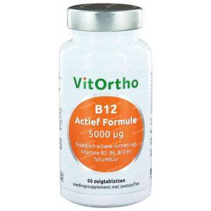 Vitortho B12 actief formule 5000 mcg 60 zuigtabletten